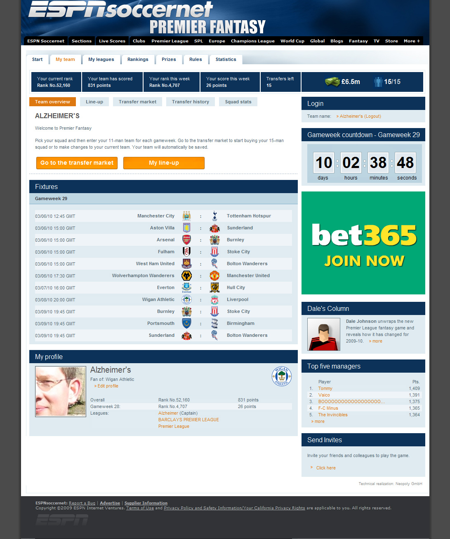 Gamecast espn epl fixtures search premier league results