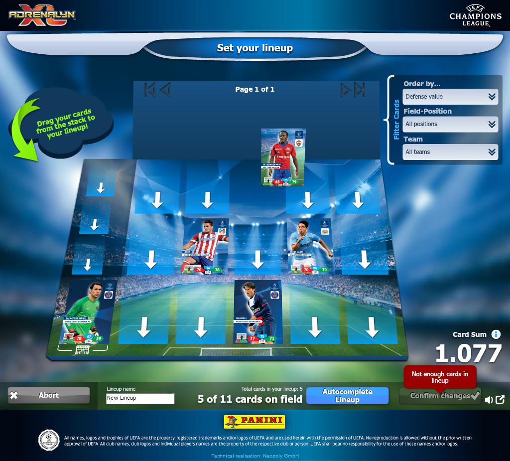 Champions League 4 Matchday Round Season 2018 2019: Panini Adrenalyn XL™ Champions League 2013-2014