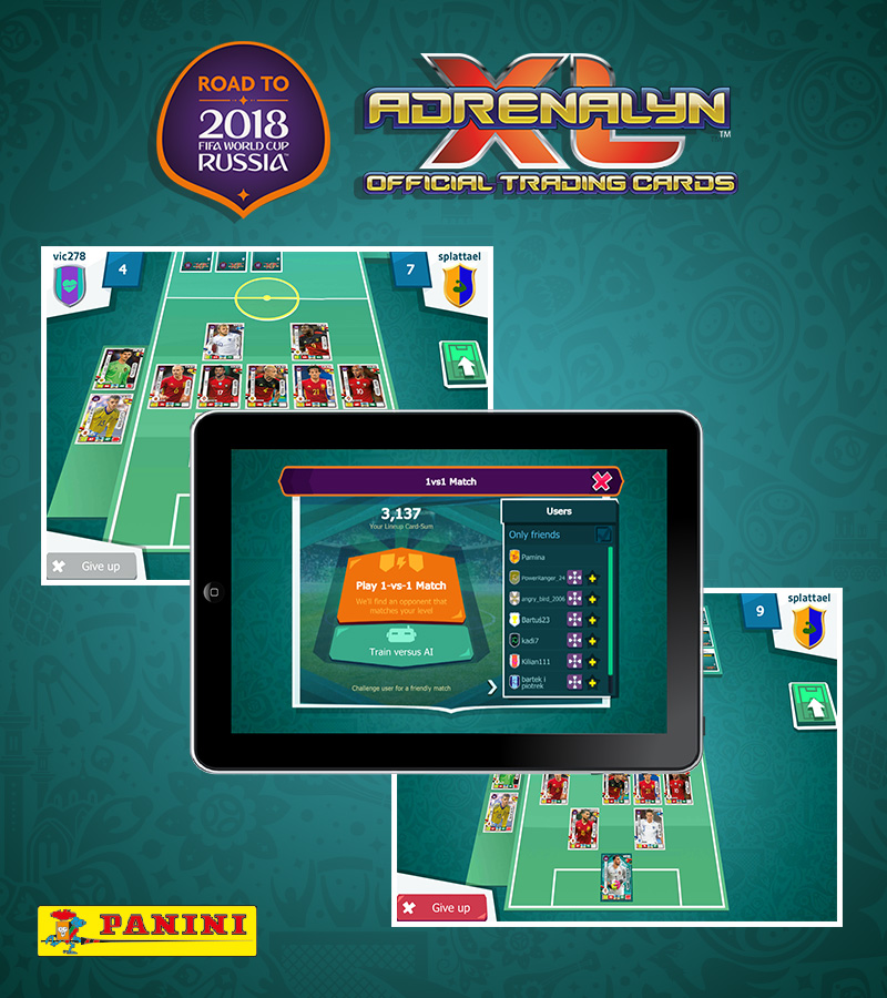 Panini AdrenalynXL Road to FIFA Worldcup 2018® Mobile App
