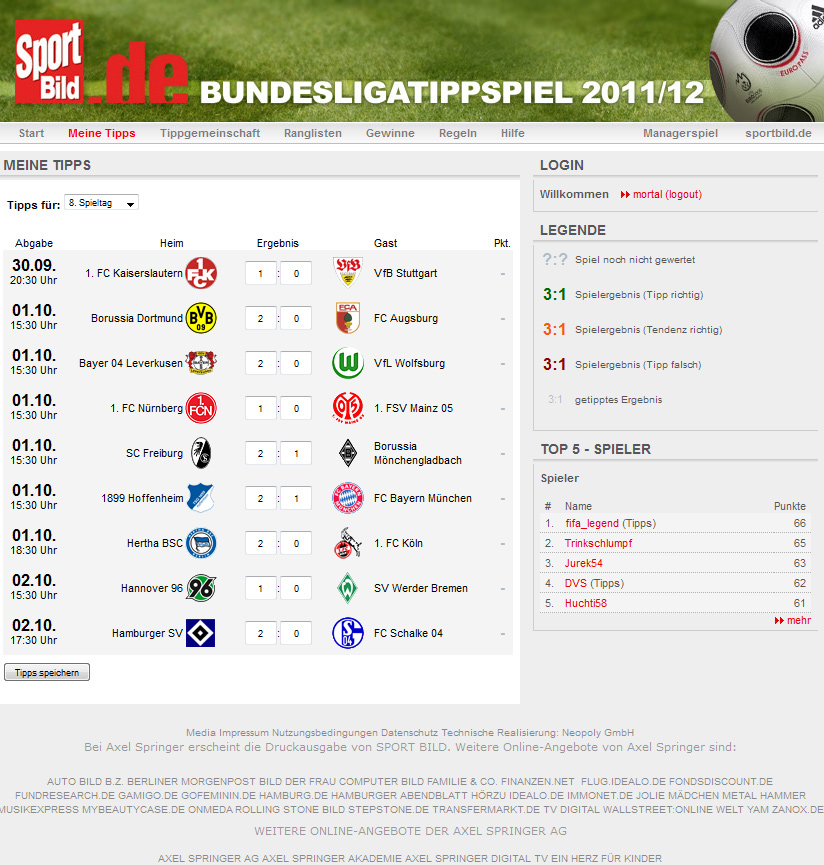 bundesliga tipp trends