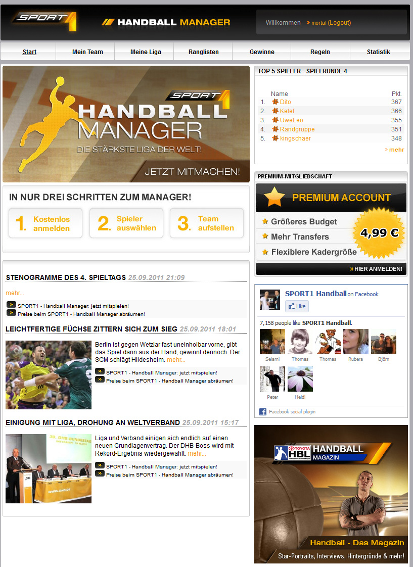 www sport 1 de handball